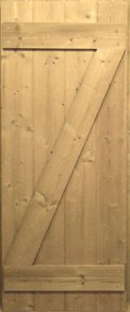 Unfinished Single Brace Pine Cottage Door from Period Style Made in the UK